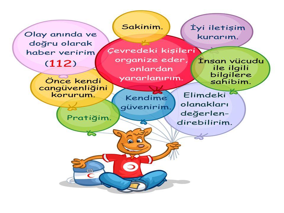 İLKYARDIMCININ ÖZELLİKLERİ  İnsan vücudu ile ilgili temel bilgilere sahip olmalı,  Önce kendi can güvenliğini korumalı,  Sakin, kendine güveni olan ve pratik olmalı,  Eldeki olanakları değerlendirebilmeli,  Olayı anında ve doğru olarak haber vermeli (112'yi aramak),  Çevredeki kişileri organize edebilmeli ve onlardan yararlanabilmeli,  İyi bir iletişim becerisine sahip olmalı.
