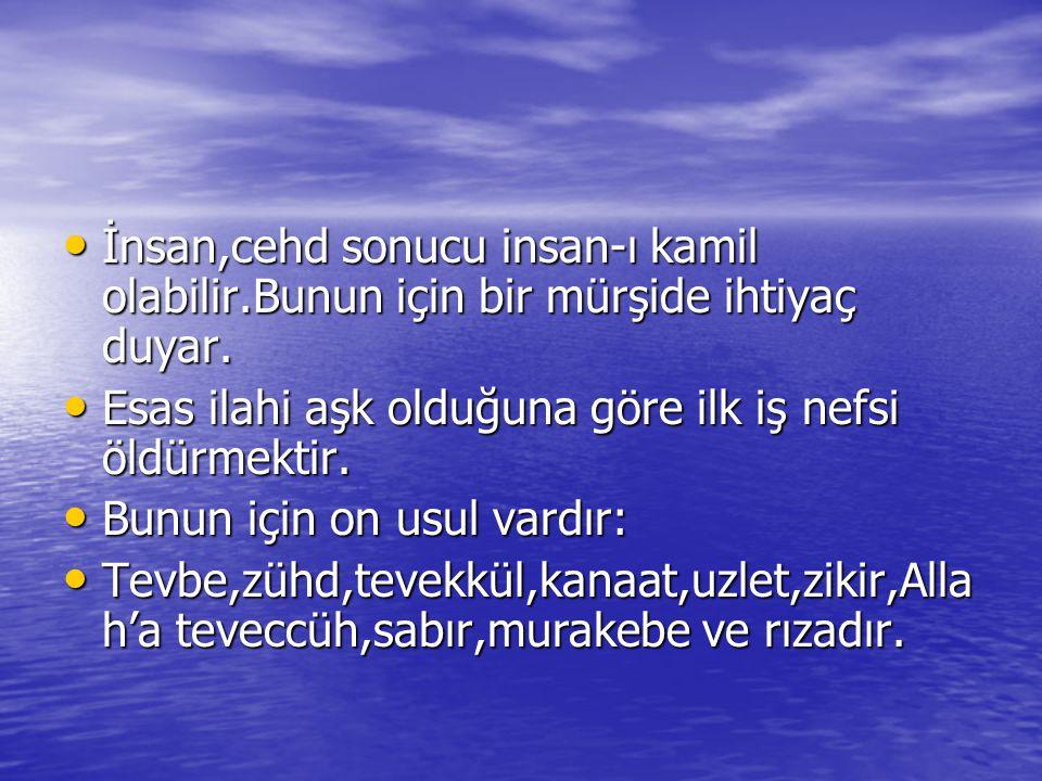 Bunlar ile nefis yedi mertebeden geçer ve Fenafillah'a (Allah'ta yok olma) ulaşır.