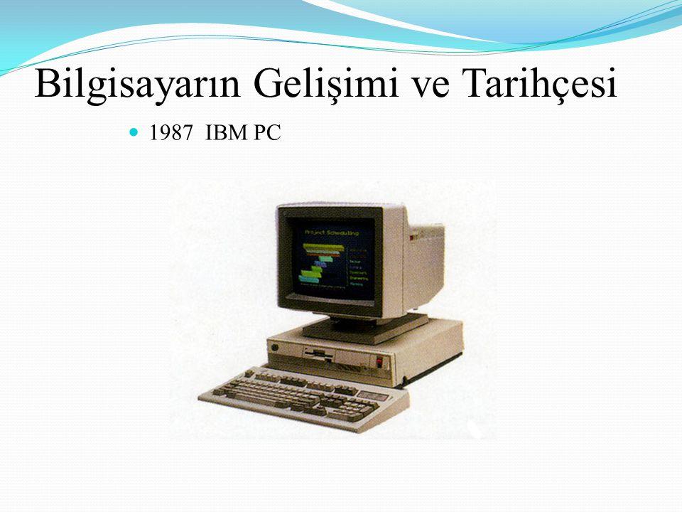 Bilgisayarın Gelişimi ve Tarihçesi 1987 IBM PC
