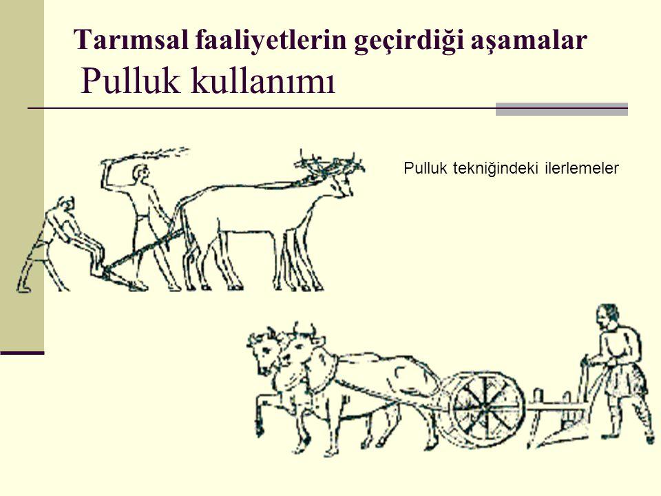 Tarımsal faaliyetlerin geçirdiği aşamalar Pulluk kullanımı Pulluk tekniğindeki ilerlemeler