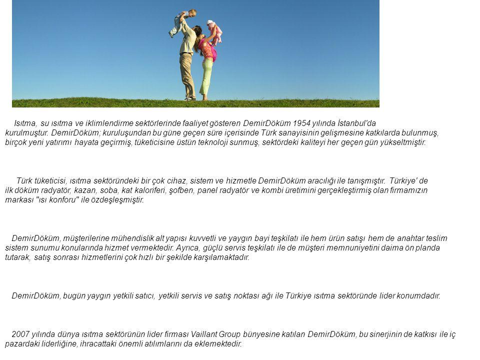 Şirket Profili Isıtma, su ısıtma ve iklimlendirme sektörlerinde faaliyet gösteren DemirDöküm 1954 yılında İstanbul'da kurulmuştur. DemirDöküm; kuruluş
