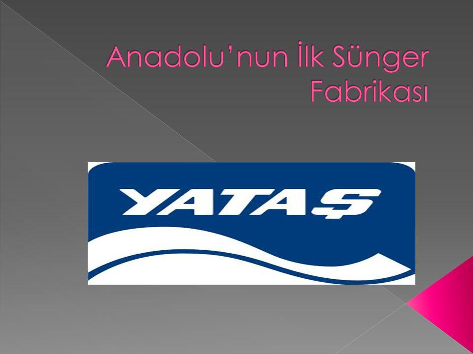  Yataş'ın temelini oluşturan Süntaş A.Ş., 1976 yılında kurulmuş, Anadolu'nun ilk sünger fabrikasıdır.