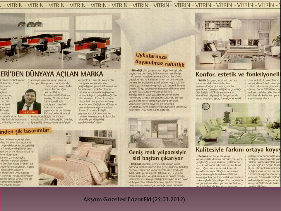 Akşam Gazetesi Pazar Eki (29.01.2012)