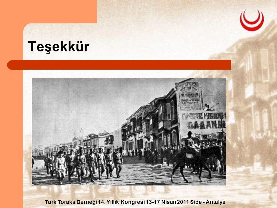 Türk Toraks Derneği 14. Yıllık Kongresi 13-17 Nisan 2011 Side - Antalya Teşekkür
