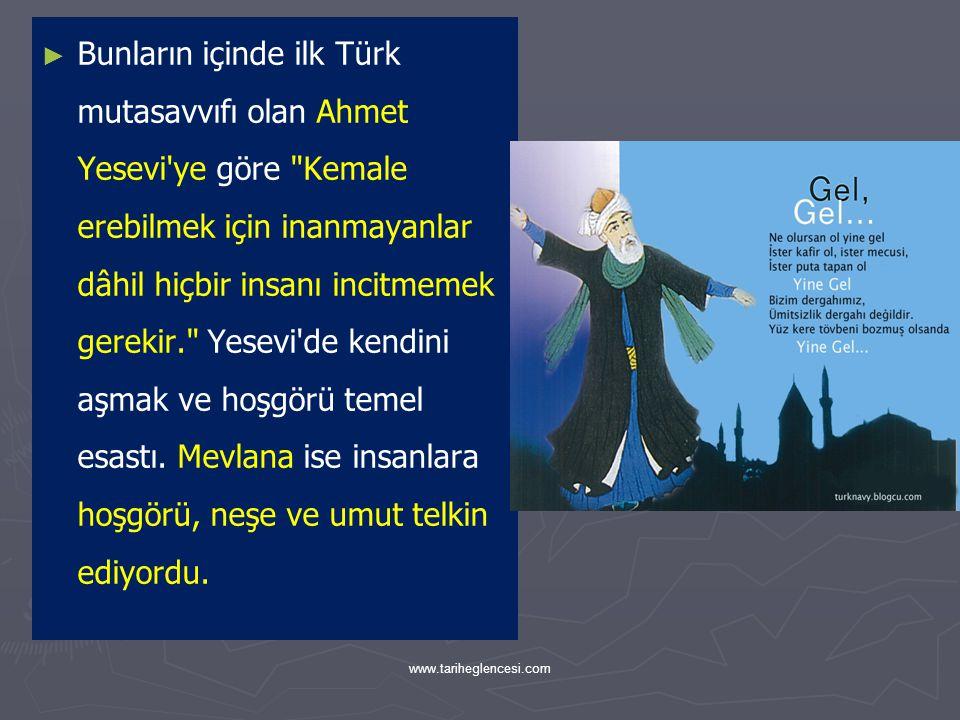 Hoşgörü Toplumu ► ► Türk şehirlerinde askerler ve din adamları çoğunluktaydı.