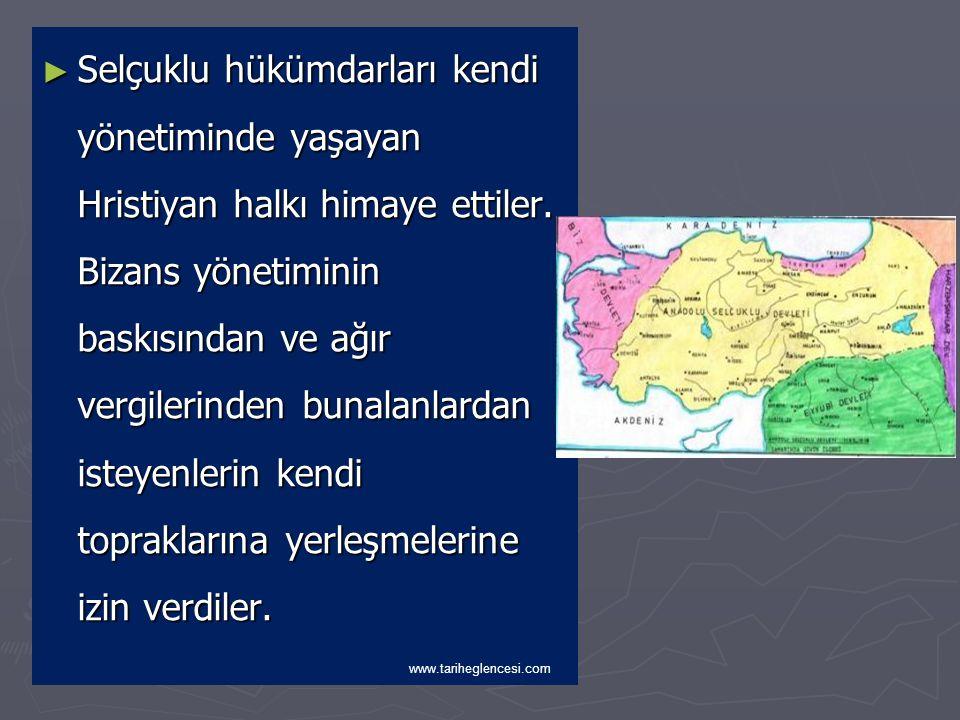 Türkiye Selçuklularında Sosyal Hayat ► Sosyal Hayat: Türkiye Selçukluları kendilerine has bir sosyal ve iktisadi politika izlediler.