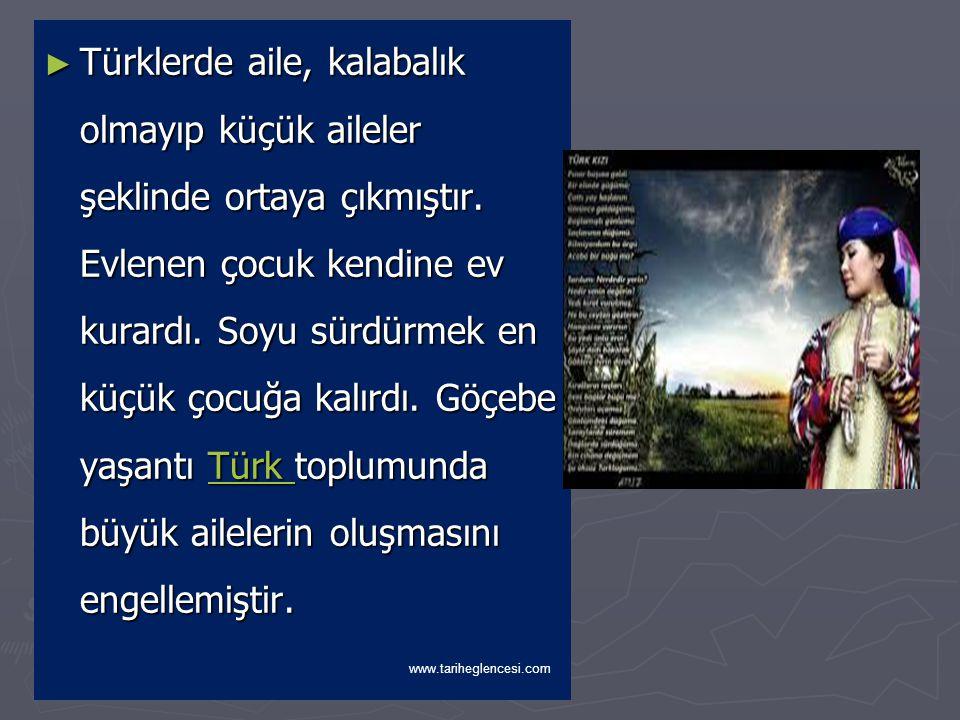 TOPLUM YAPISI ► Türk toplumunun temeli Oguş denilen aileye dayanırdı.