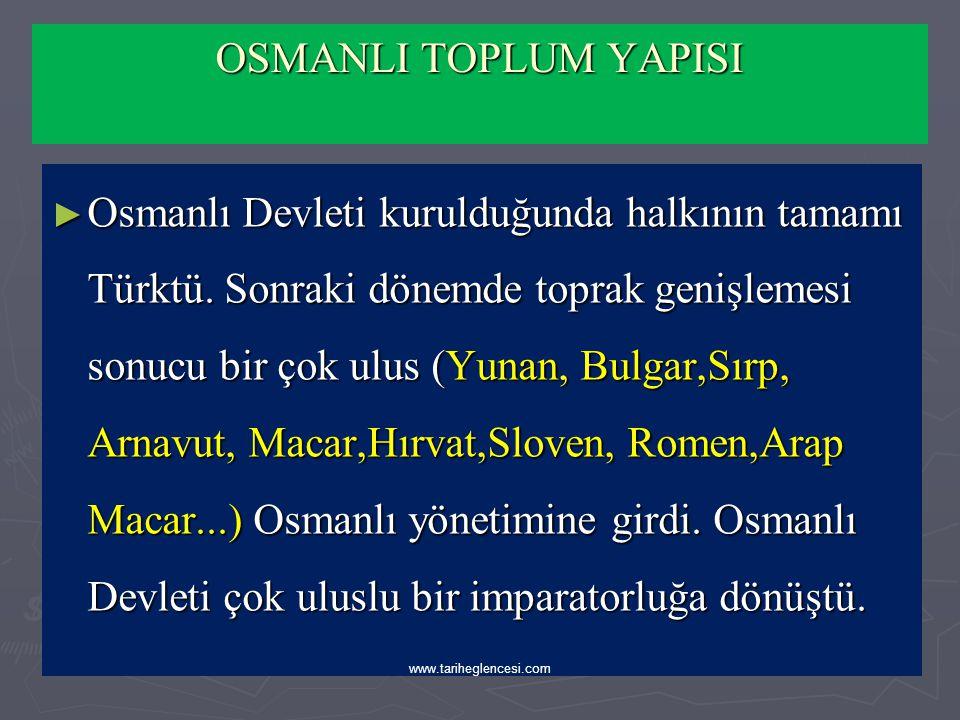 ► Köylüler: Türkmen kökenli olan Türk köylüsü göçebe ve yerleşik olmak üzere iki kısma ayrılıyordu.