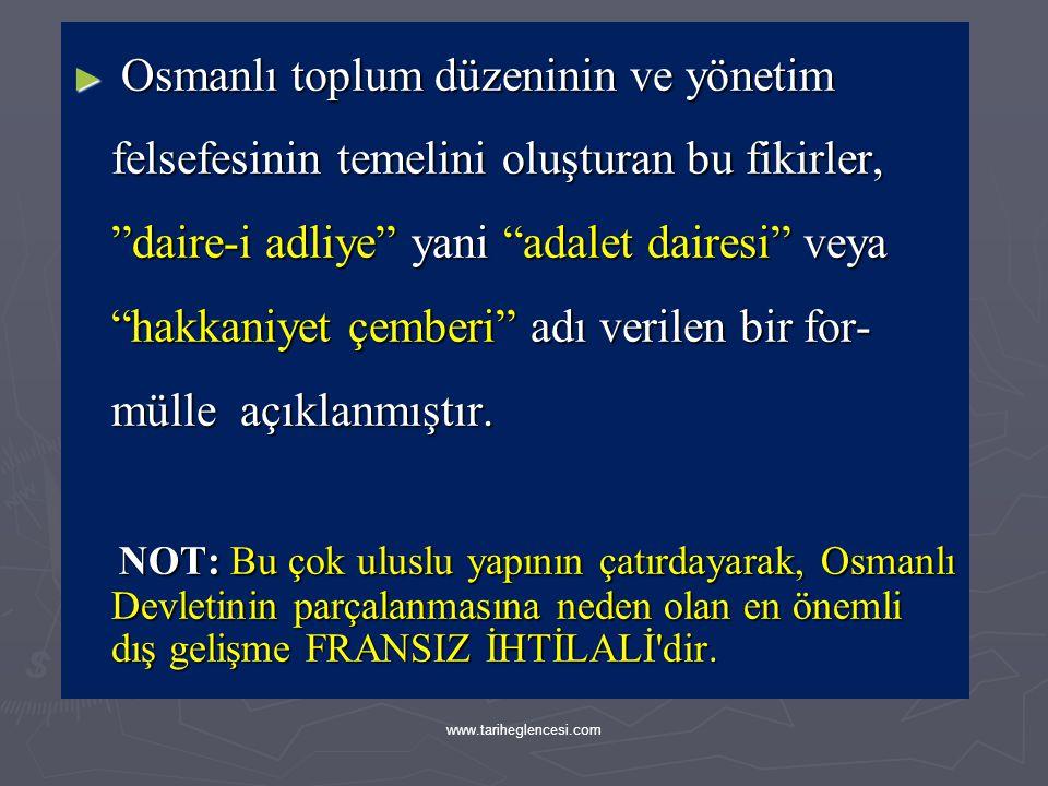 ► Osmanlı toplum düzeninin felsefi temelini oluşturan bu bakış açısı, sadece teorik kitaplarda değil çeşitli alanlardaki uygulamalarla ilgili arşiv be