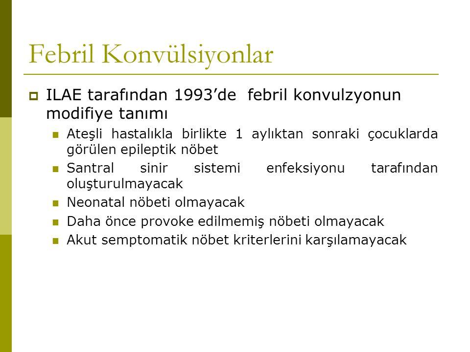ÖNLEME Fenobarbital Valproik asit Karbamazepin Fenitoin Baumann RJ, Duffner PK (2000).