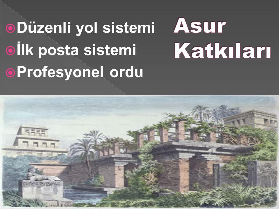 Düzenli yol sistemi  İlk posta sistemi  Profesyonel ordu