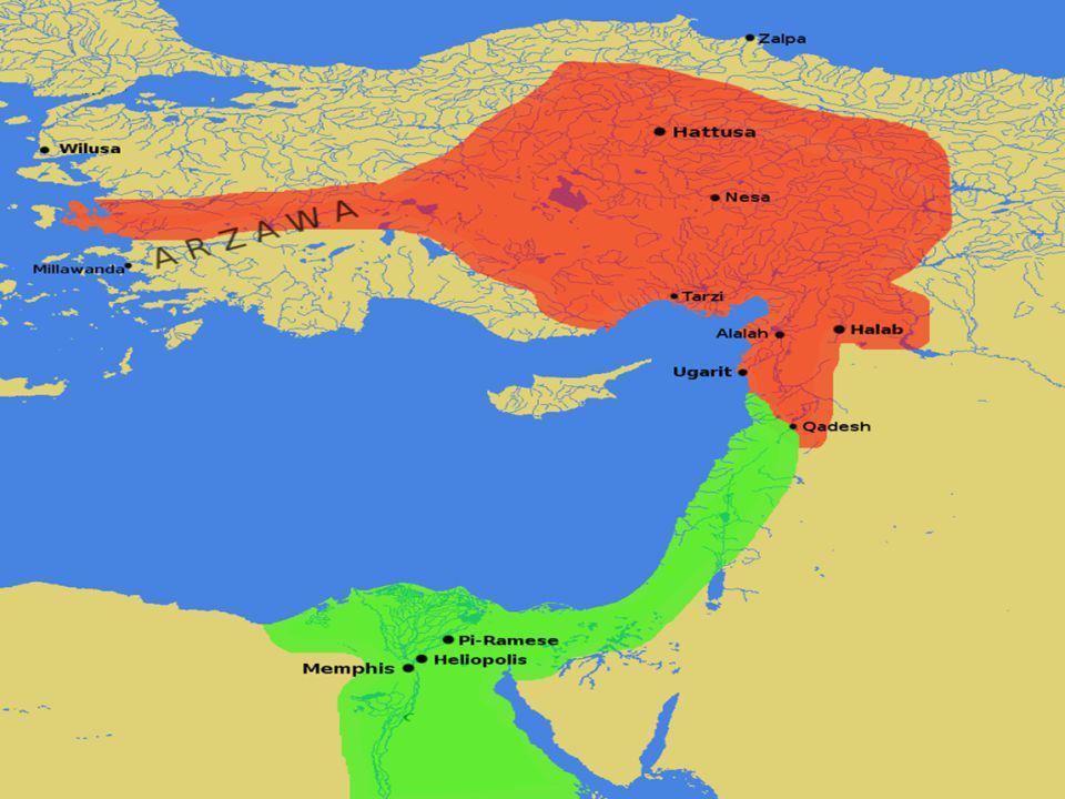 HİTİTLER Çok Tanrılı inanca sahiptiler Mısırlılarla yaptıkları savaş sonucunda imzaladıkları Kadeş Antlaşması tarihin ilk barış Antlaşmasıdır.