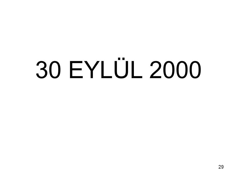 29 30 EYLÜL 2000