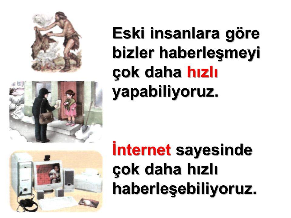 En önemli iletişim aracı olarak İnternetten yararlanıyoruz.