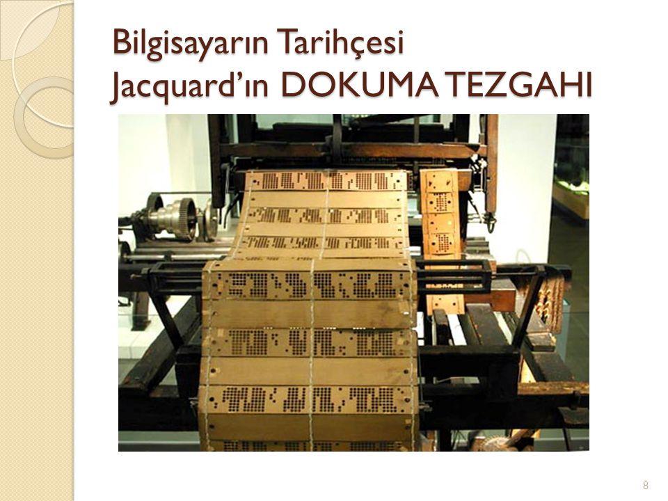 Bilgisayarın Tarihçesi İ zleyen yüzyıllarda Pascal ve Leibniz'in makinesine dayanarak çeşitli makineler yapılmış ve bunlar elektronik hesap makineleri iyice yaygınlaşıncaya kadar (1980 li yıllara kadar) kullanılmıştır.