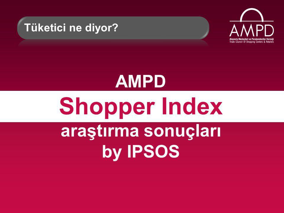 AMPD Shopper Index araştırma sonuçları by IPSOS Tüketici ne diyor