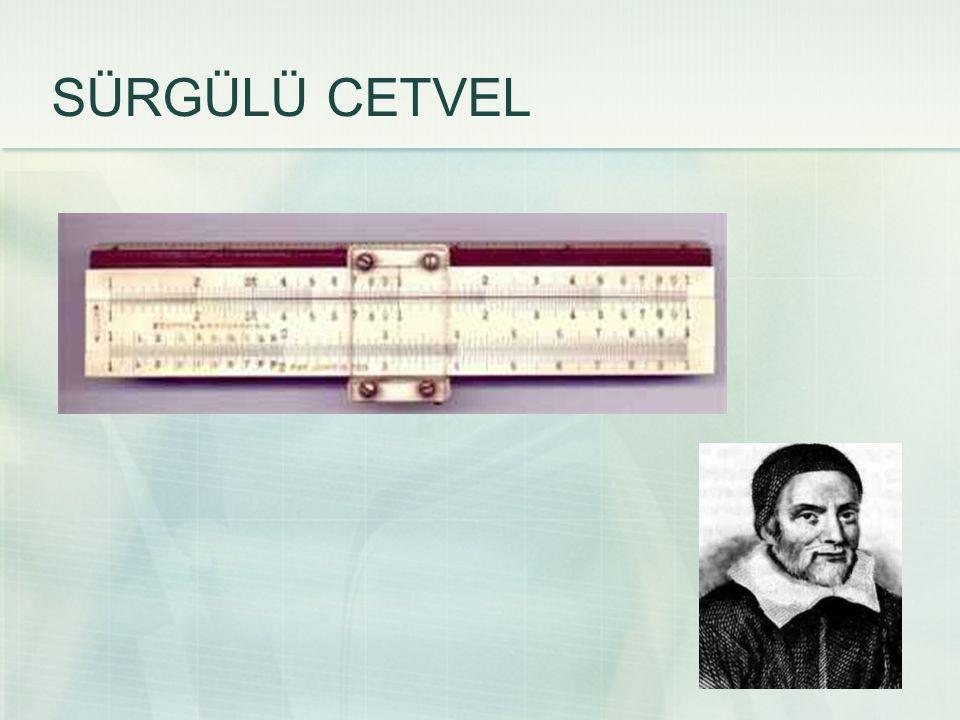 1621 yılında rahip ve matematikçi William Oughtred tarafından icat edilmiştir.
