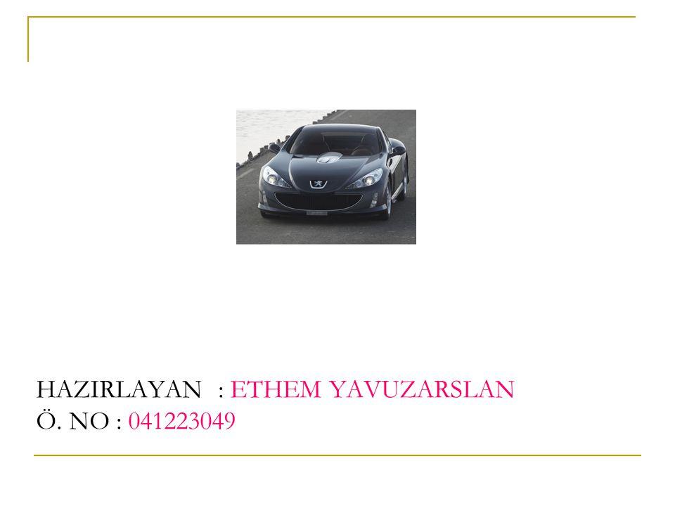 HAZIRLAYAN : ETHEM YAVUZARSLAN Ö. NO : 041223049