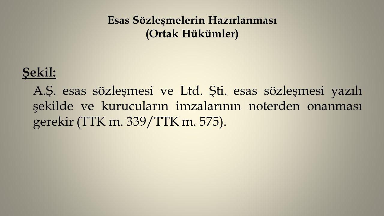Özel Sözleşme Değişiklikleri (Sermaye Azaltımı-A.Ş/Ltd.