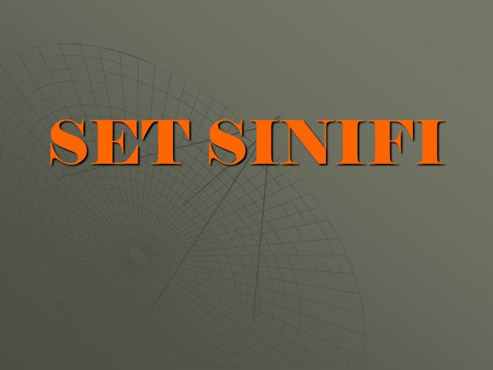 SET SINIFI