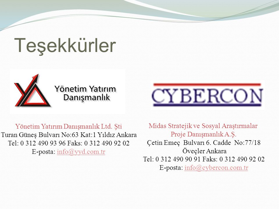 Teşekkürler Yönetim Yatırım Danışmanlık Ltd.