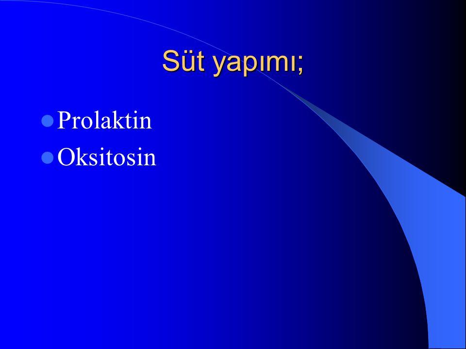 Süt yapımı; Prolaktin Oksitosin