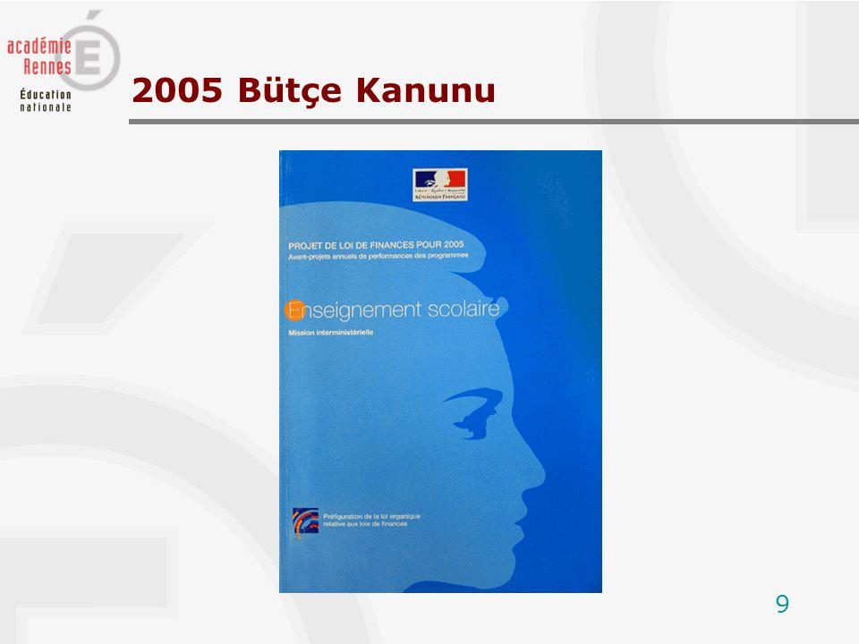 9 2005 Bütçe Kanunu
