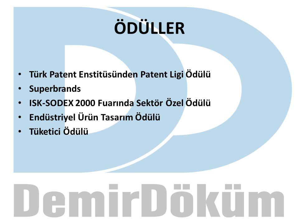 ÖDÜLLER Türk Patent Enstitüsünden Patent Ligi Ödülü Superbrands ISK-SODEX 2000 Fuarında Sektör Özel Ödülü Endüstriyel Ürün Tasarım Ödülü Tüketici Ödül