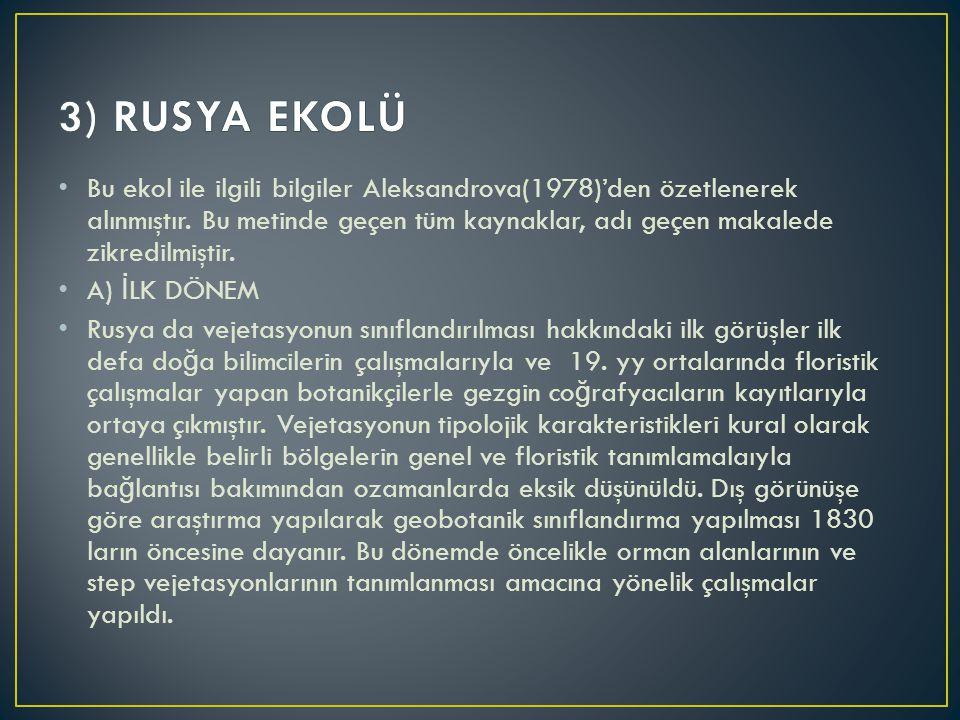 Bu ekol ile ilgili bilgiler Aleksandrova(1978)'den özetlenerek alınmıştır. Bu metinde geçen tüm kaynaklar, adı geçen makalede zikredilmiştir. A) İ LK