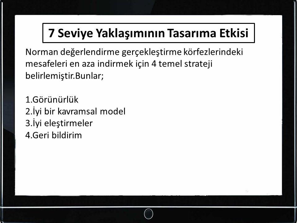 Norman değerlendirme gerçekleştirme körfezlerindeki mesafeleri en aza indirmek için 4 temel strateji belirlemiştir.Bunlar; 1.Görünürlük 2.İyi bir kavr