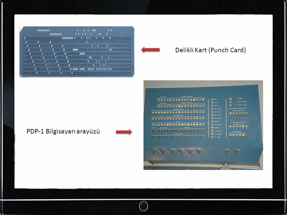 Delikli Kart (Punch Card) PDP-1 Bilgisayarı arayüzü