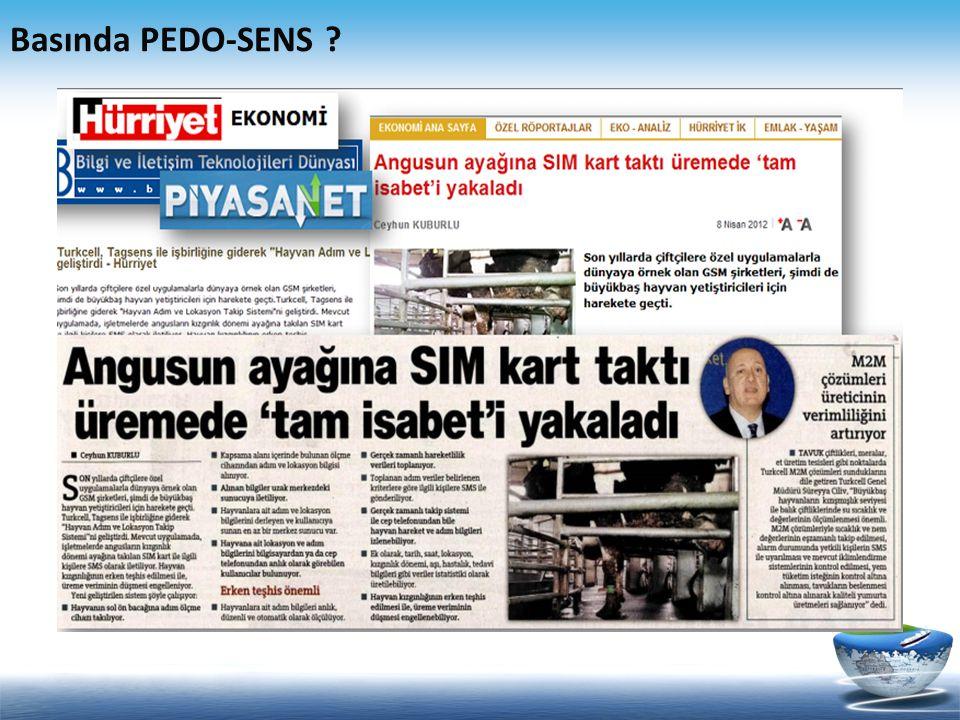 Basında PEDO-SENS ?