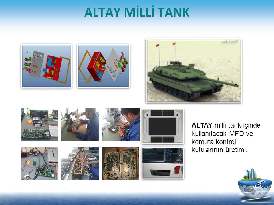 ALTAY MİLLİ TANK ALTAY milli tank içinde kullanılacak MFD ve komuta kontrol kutularının üretimi.