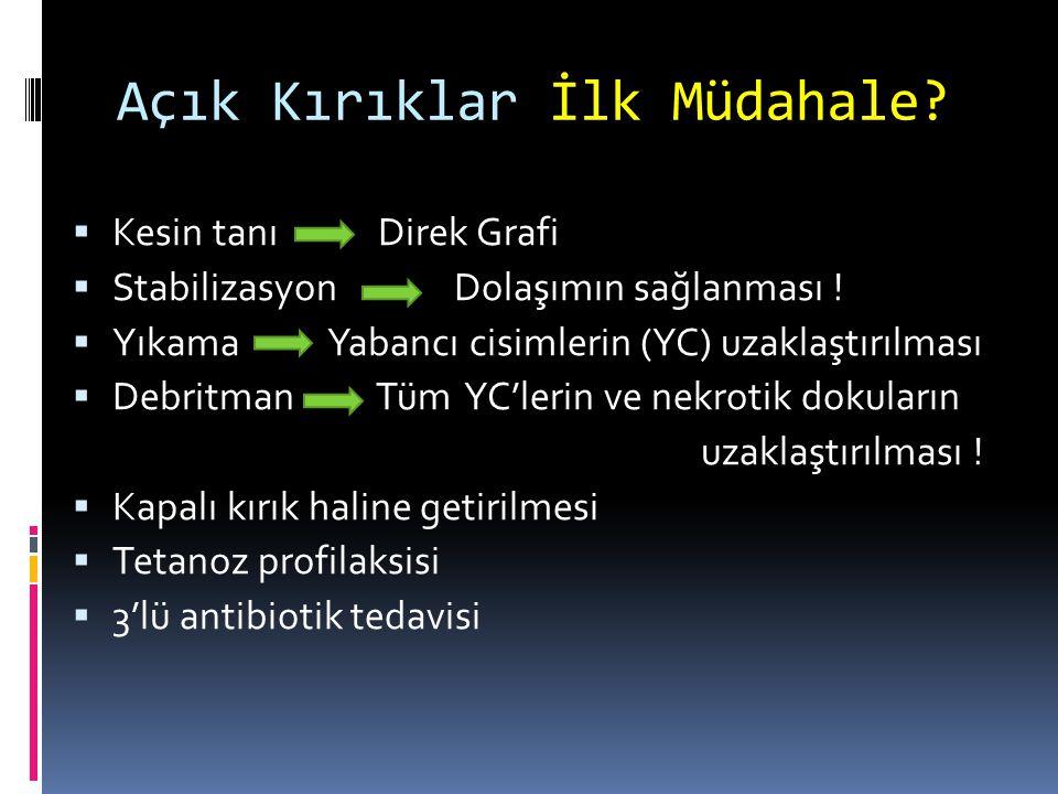  Antibiyoterapi 1.1. kuşak sefalosporin (1 gr) 2.