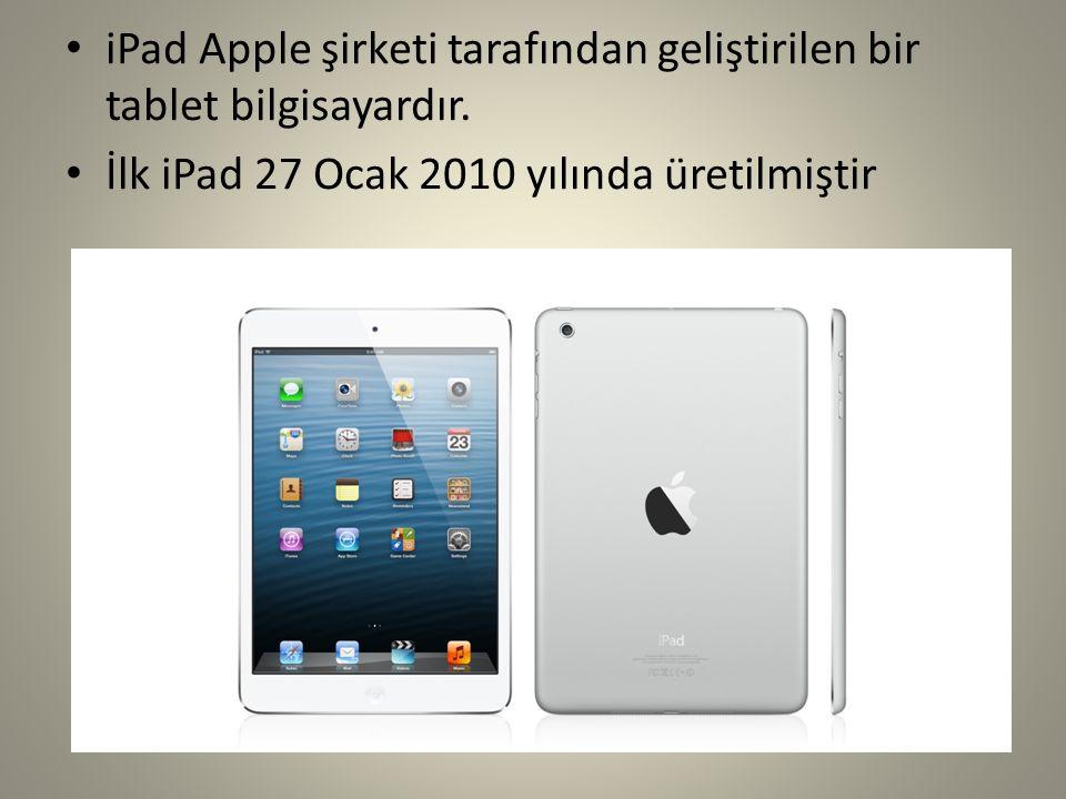 iPad Apple şirketi tarafından geliştirilen bir tablet bilgisayardır. İlk iPad 27 Ocak 2010 yılında üretilmiştir