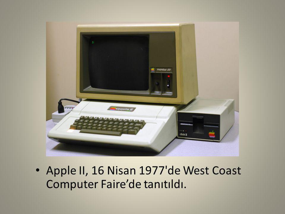 Apple II, 16 Nisan 1977'de West Coast Computer Faire'de tanıtıldı.