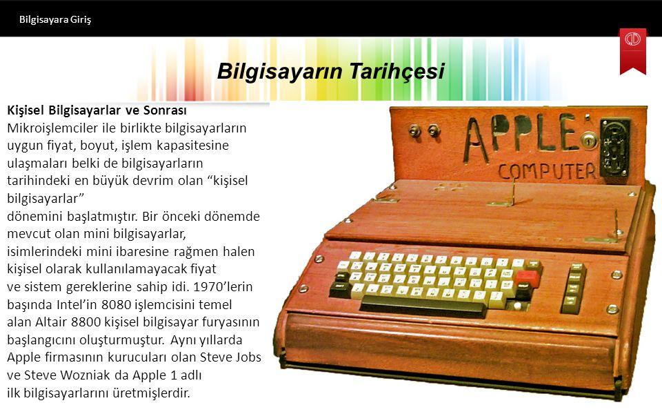 Bilgisayara Giriş ilk bilgisayarlar hangi alanda faaliyet göstermişlerdir.