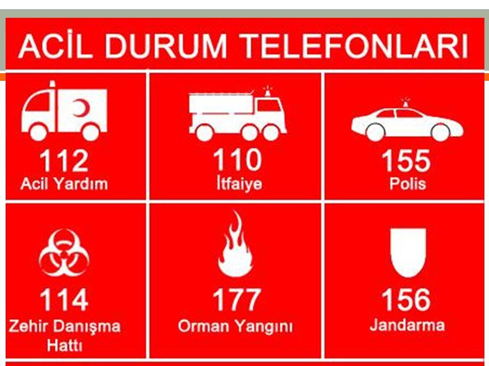  Acil durum ekipleri:  Tahliye  Söndürme  İlk yardım  Arama  Kurtarma