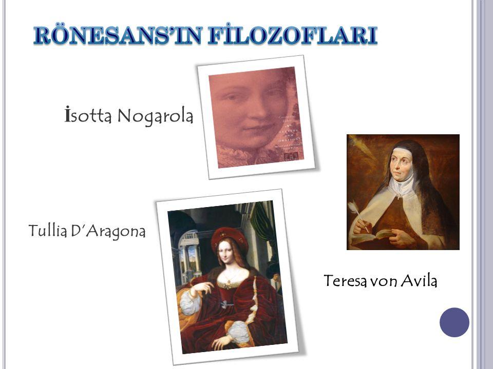 İ sotta Nogarola Tullia D'Aragona Teresa von Avila