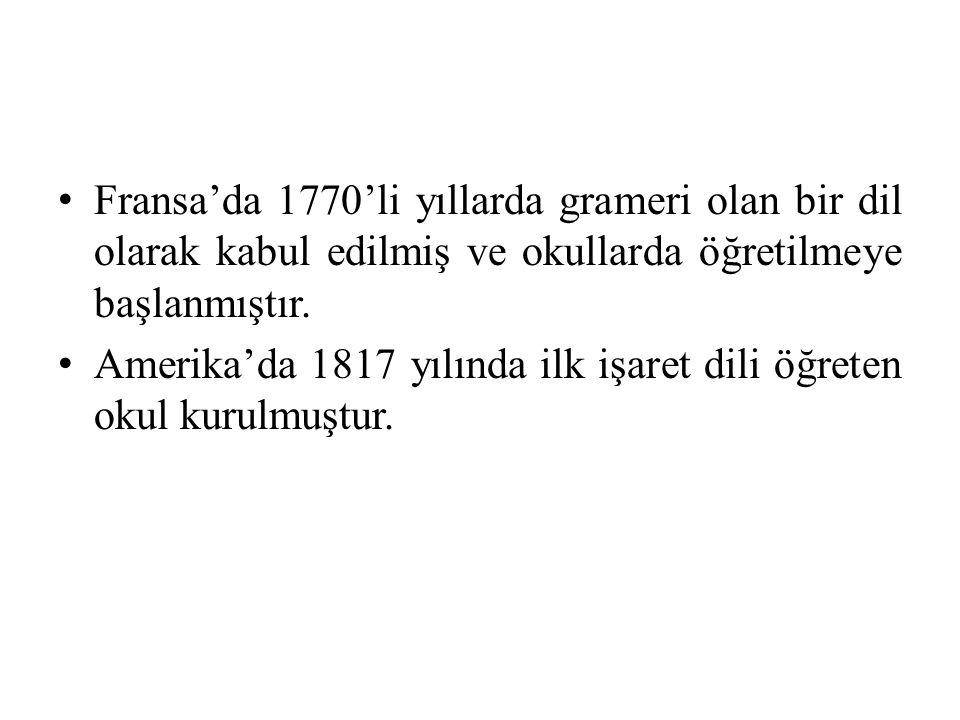 Kaynakça: Sağlam F.,İşaret Dili www.tuik.gov.tr/ 21.10.2013 07.10.2010 tarih ve 79 sayılı genelge Atila M., Konuşan Eller,Temel İşaret Dili,İlgi Yayınları,2011