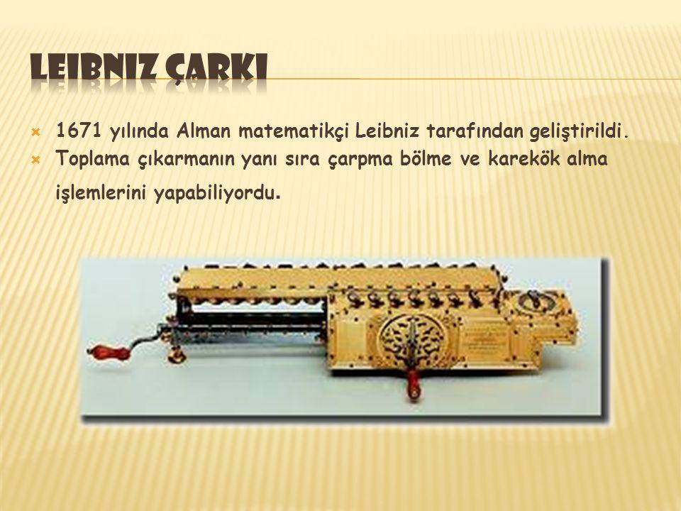  1830'da Charles Babbage tarafından geliştirildi.