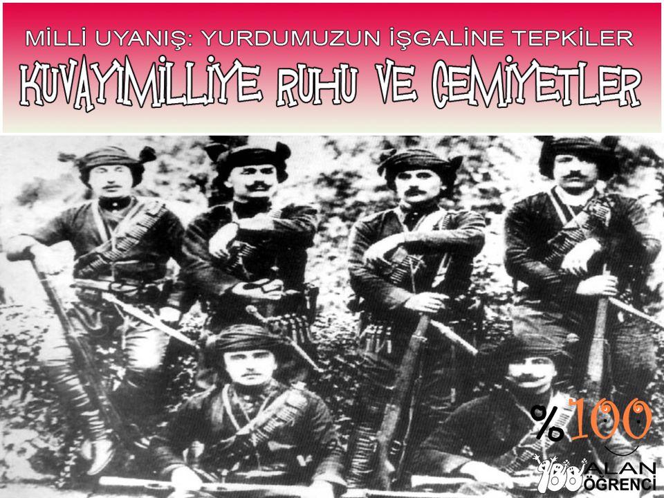 Düşman işgalleri karşısında yurdun çeşitli yörelerinde ortaya çıkan milli direniş teşkilatlarına Kuvayı Milliye denir.