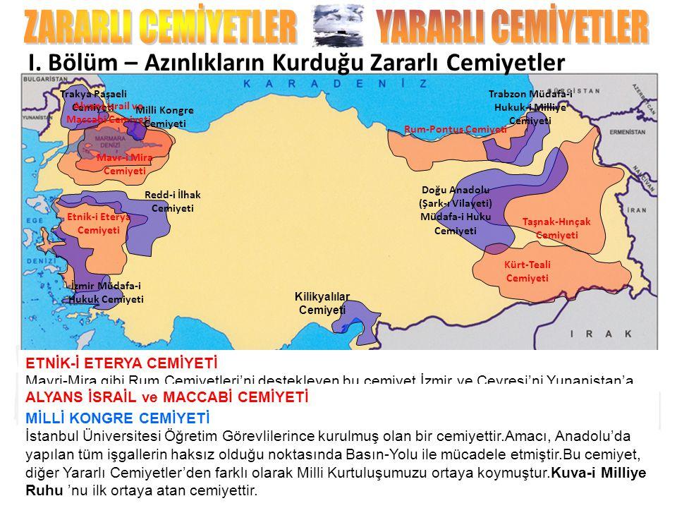 Mavr-i Mira Cemiyeti MAVR-İ MİRA CEMİYETİ Eski Bizans Devleti'nin yeniden kurulması amacıyla faaliyet gösteren bir cemiyettir. TRAKYA PAŞAELİ MÜDAFA-İ