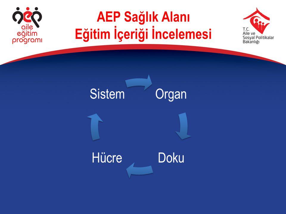 AEP Sağlık Alanı Eğitim İçeriği İncelemesi Organ DokuHücre Sistem