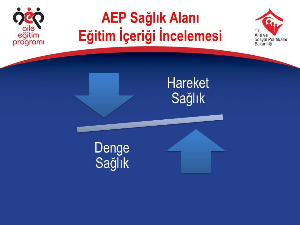 AEP Sağlık Alanı Eğitim İçeriği İncelemesi Hareket Sağlık Denge Sağlık