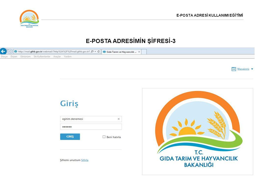 E-POSTA ADRESİ KULLANIMI EĞİTİMİ E-POSTA ADRESİNDEKİ AYARLAR-1