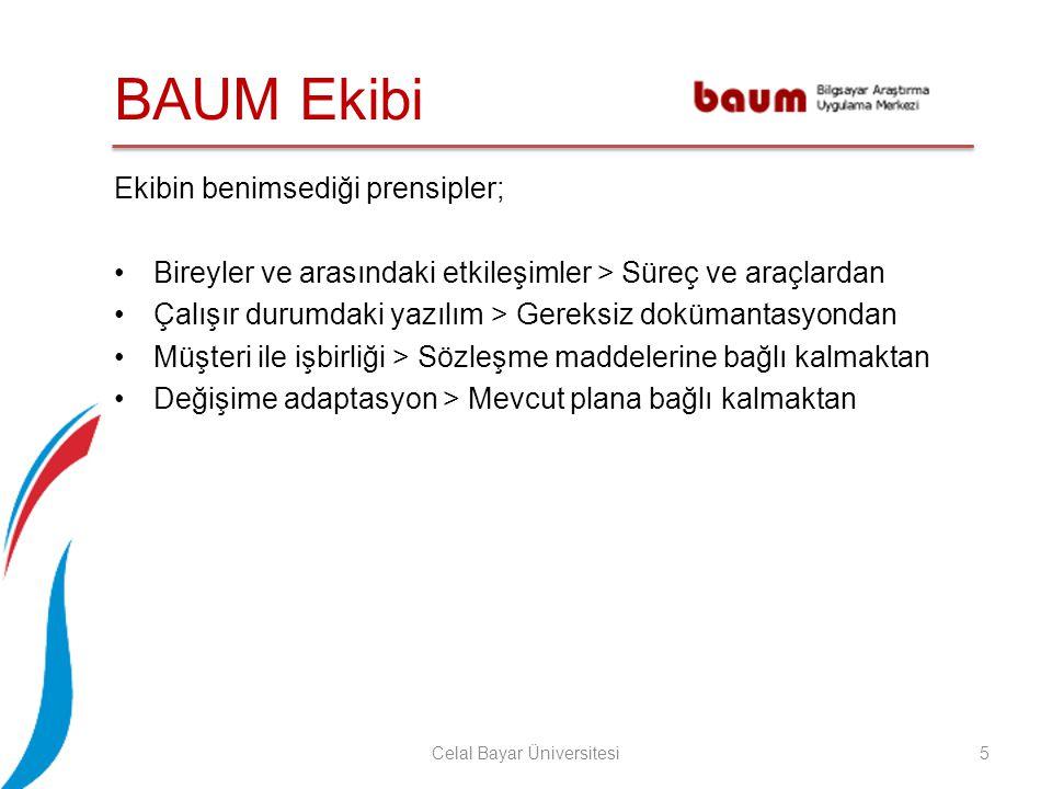 Yazılım Geliştirme 6Celal Bayar Üniversitesi Çevik bir yazılım geliştirme yöntemi olan Scrum kullanılmıştır.