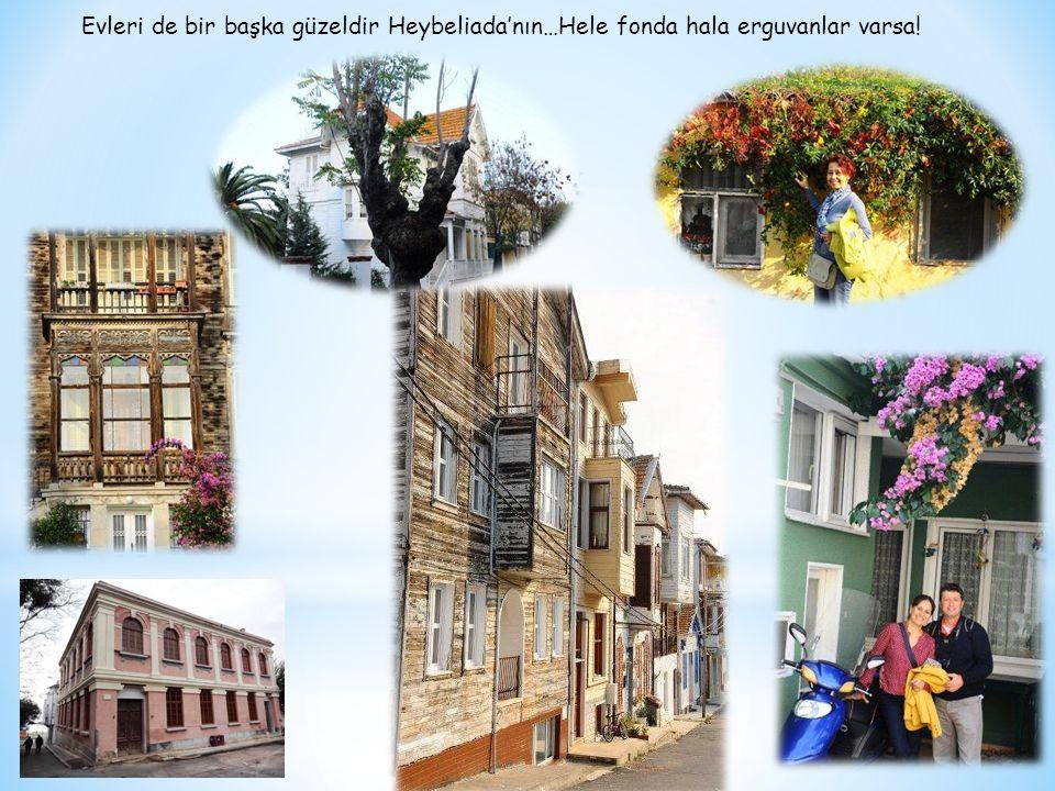 Evleri de bir başka güzeldir Heybeliada'nın…Hele fonda hala erguvanlar varsa!