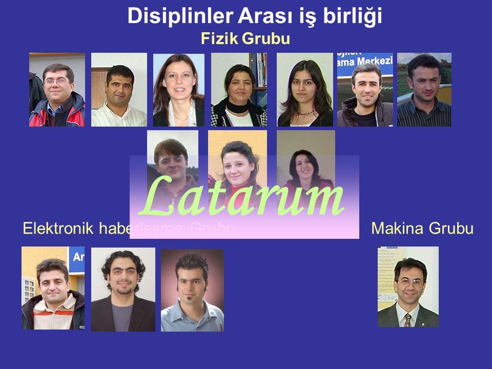 Disiplinler Arası iş birliği Fizik Grubu Elektronik haberleşme GrubuMakina Grubu Latarum