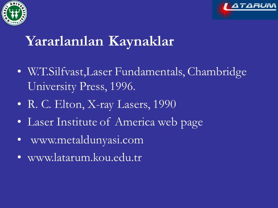 W.T.Silfvast,Laser Fundamentals, Chambridge University Press, 1996.